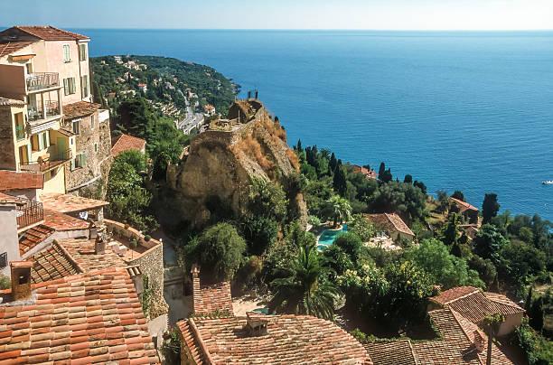 Blick auf das Meer von village Roquebrune – Foto