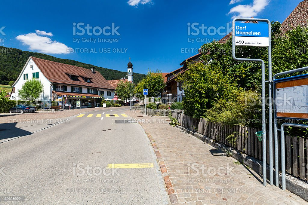 Views of the small village Boppelsen near Zurich stock photo