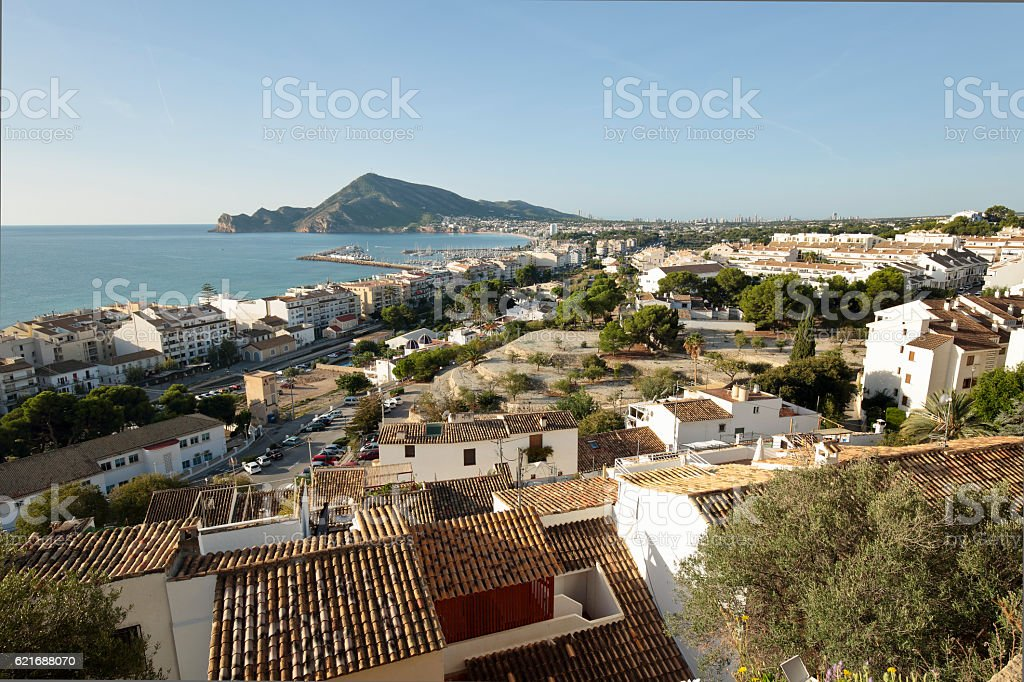 Views of the village of Altea - foto de stock
