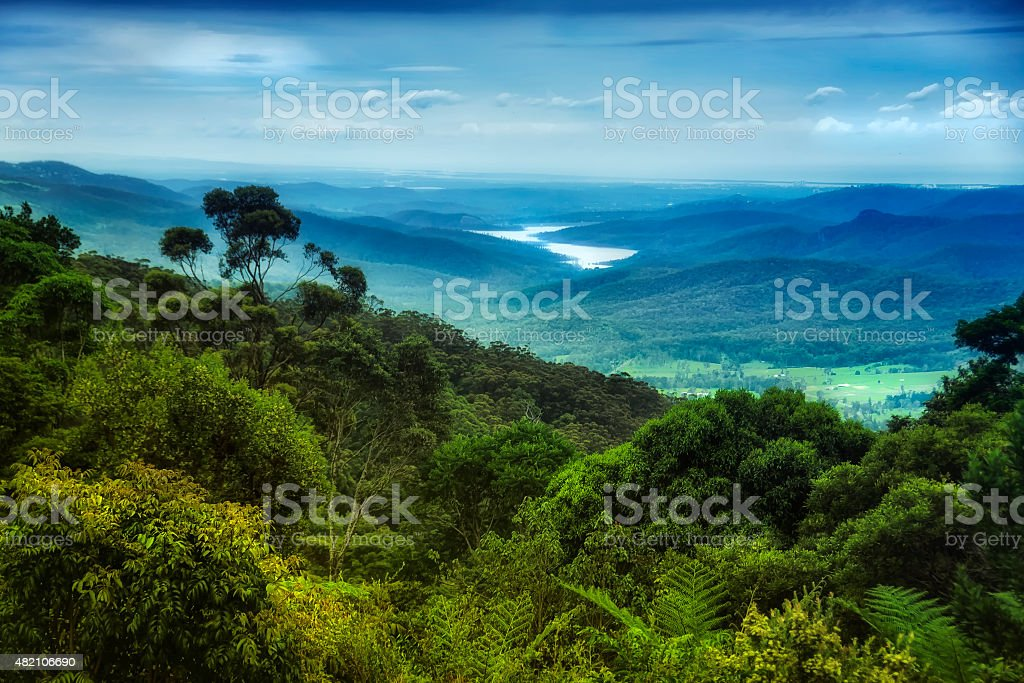 Views over Lamington National Park stock photo