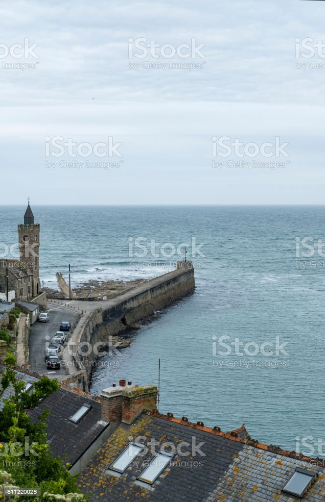 Views over Porthleven, Cornwall. stock photo