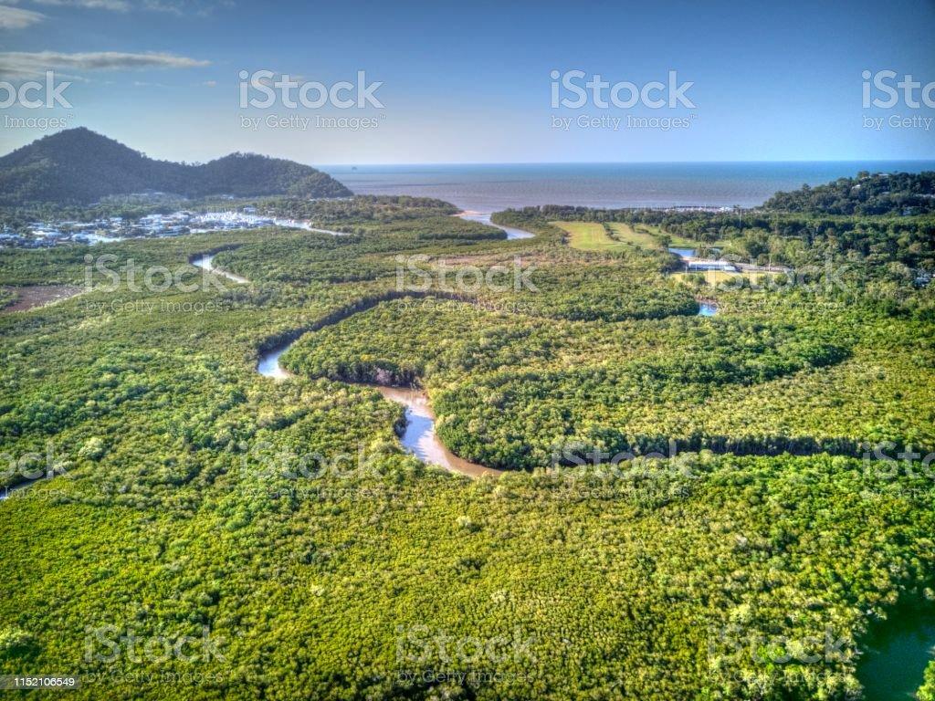 Blick über Yorkeys Knob, Queensland - Lizenzfrei Antenne Stock-Foto