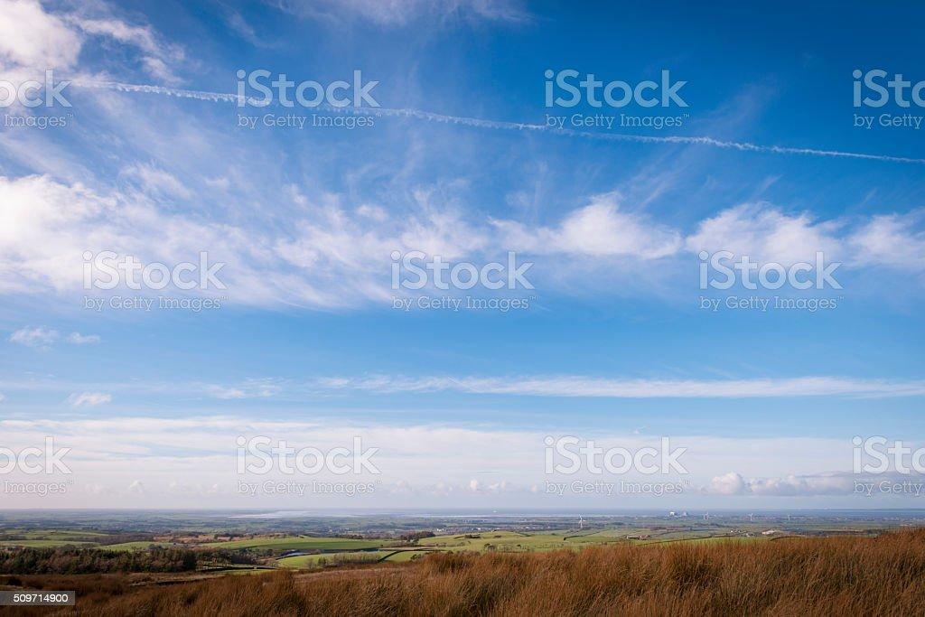 Views towards Morecambe bay from Quernmore stock photo