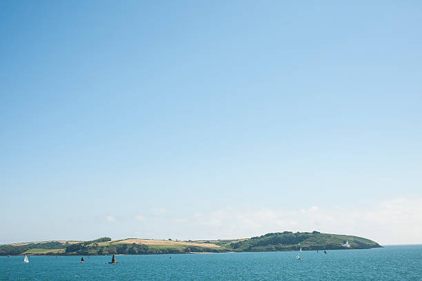 views towards trefusis point falmouth, cornwall - cornwall stock pictures, royalty-free photos & images