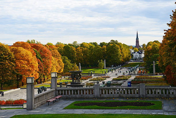 Vigeland Park in Autumn Vigeland Park in Oslo, Norway during Autumn oslo stock pictures, royalty-free photos & images