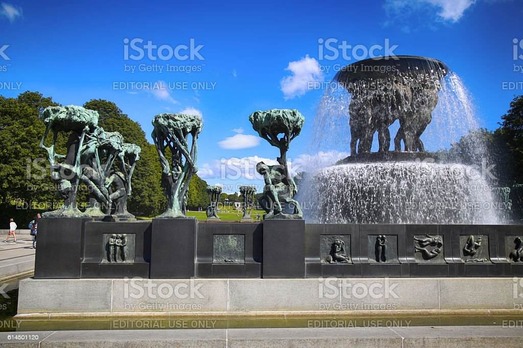 Vigeland Park in Oslo, Norway stock photo