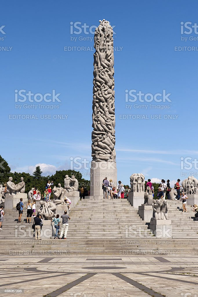 Vigeland park Oslo stock photo