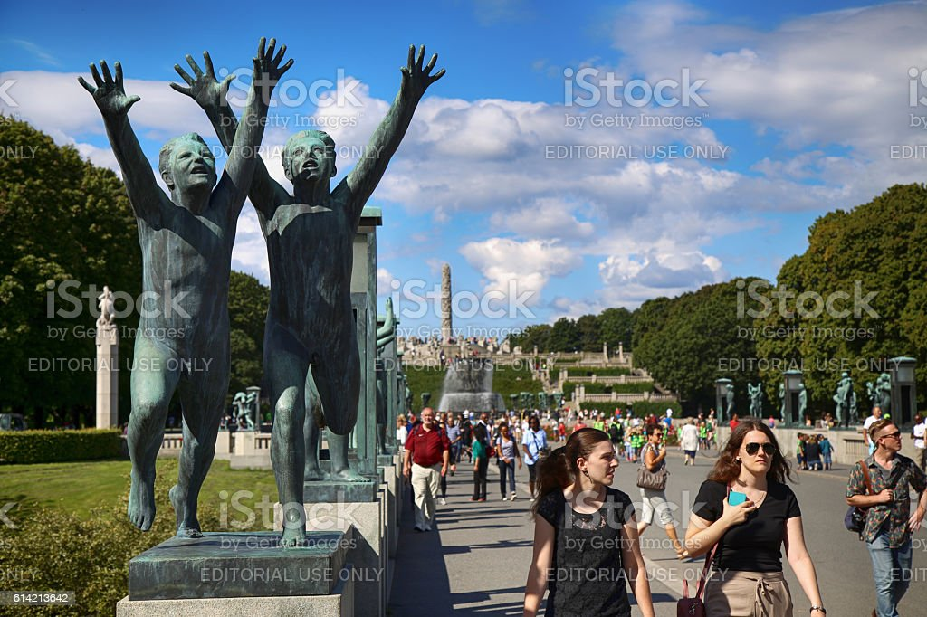 Vigeland Sculptures Park in Oslo, Norway stock photo