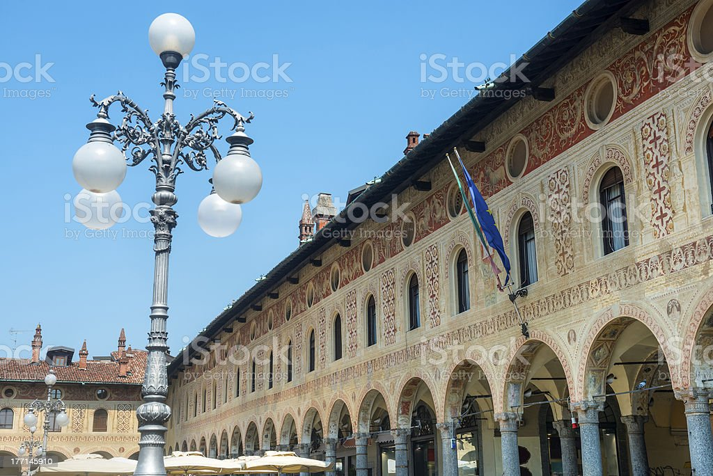 Vigevano: Piazza Ducale stock photo