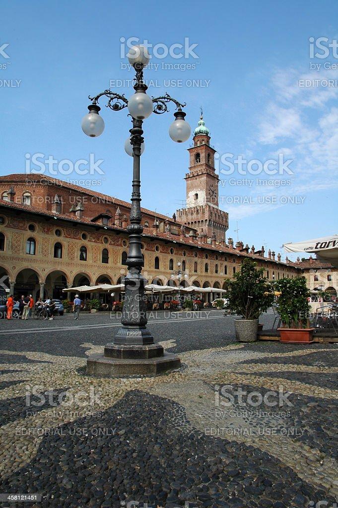 Vigevano - Piazza Ducale stock photo