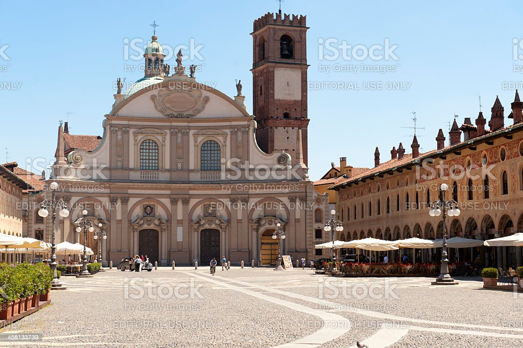 Vigevano, Piazza Ducale stock photo