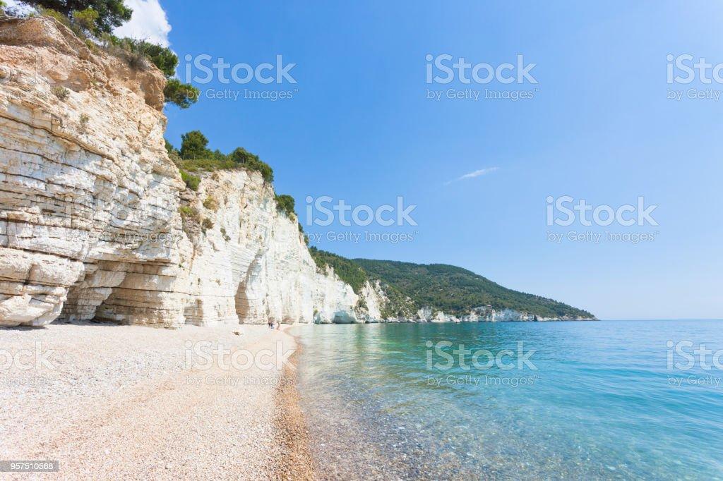 Vignanotica, Apulien - Out für einen Spaziergang an der beeindruckenden Strand Vignanotica – Foto
