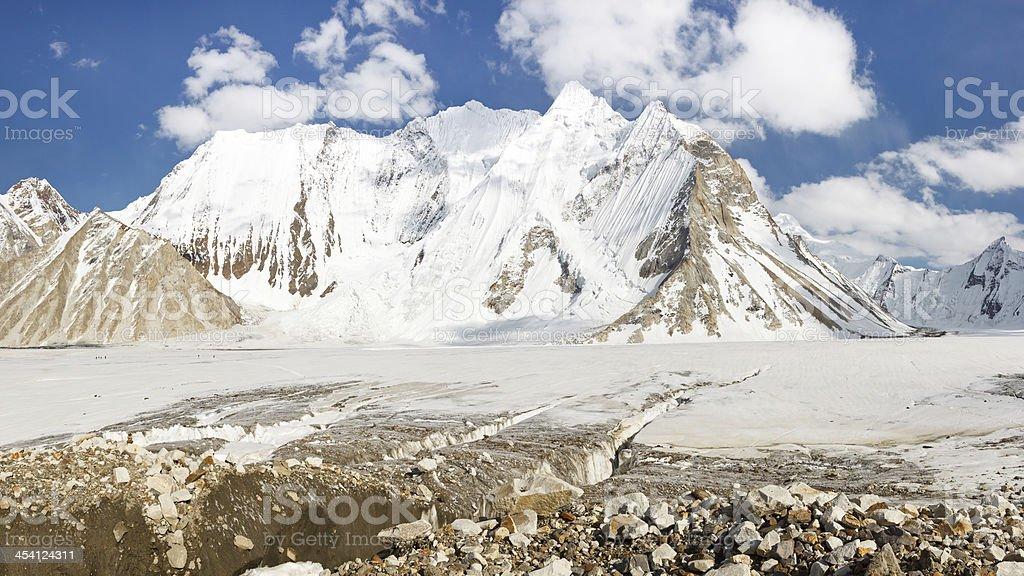 Vigne Glacier, Karakorum, Pakistan royalty-free stock photo