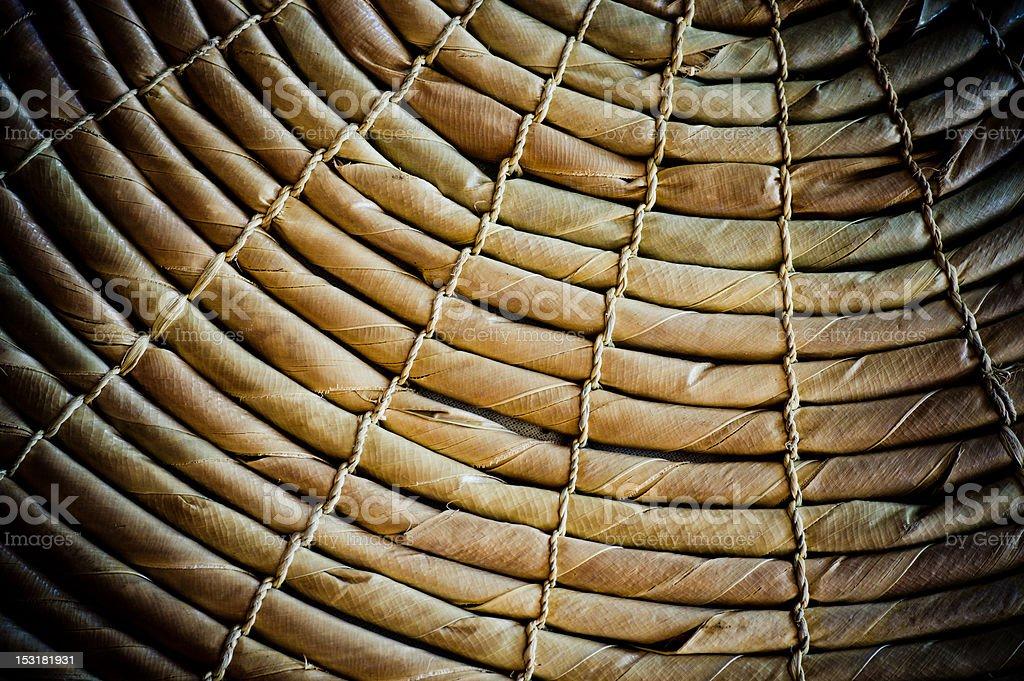 Vignette Dark Jute Texture Ropes royalty-free stock photo