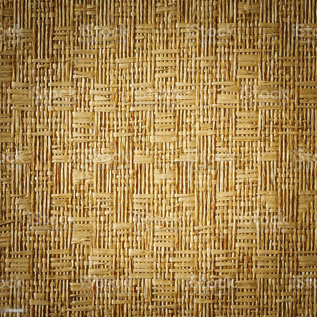 Vignette style straw mat texture background stock photo