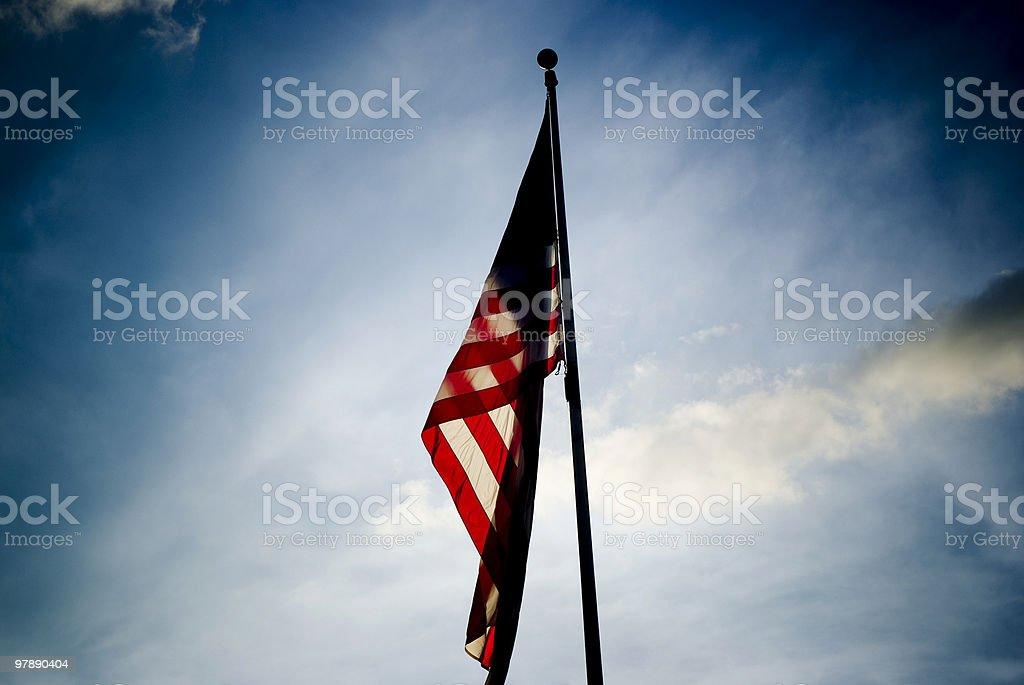 Vignetted Flag royalty-free stock photo