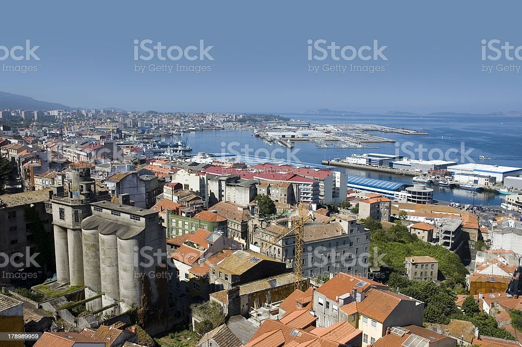 Vigo city stock photo