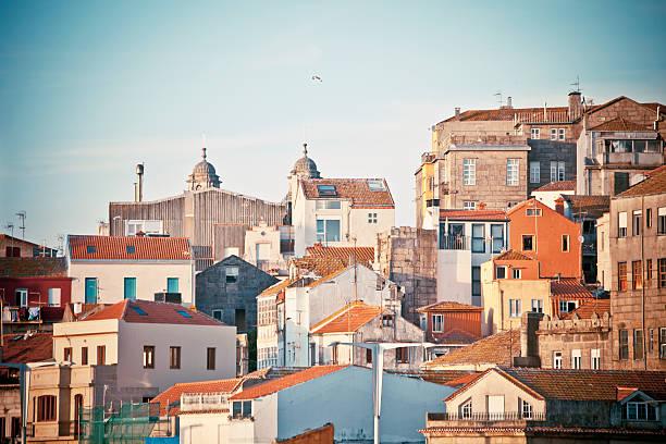 Vigo view. View to Vigo town-centre buildings. galicia stock pictures, royalty-free photos & images