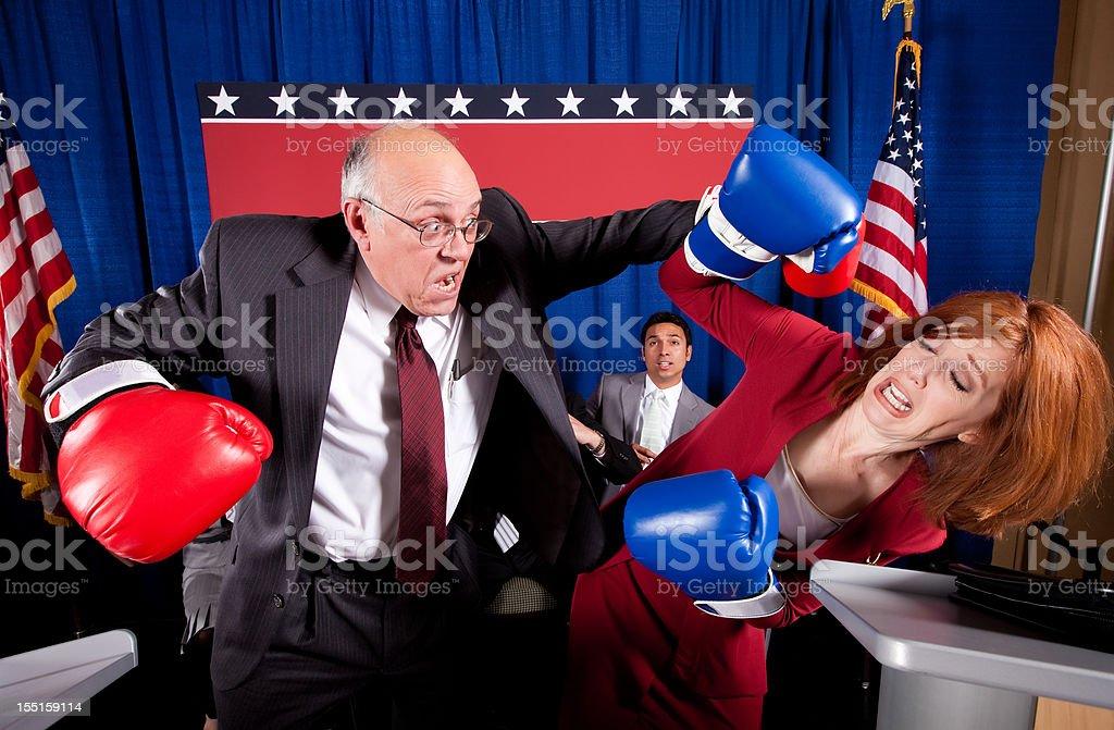 Vigorous Political Debate stock photo