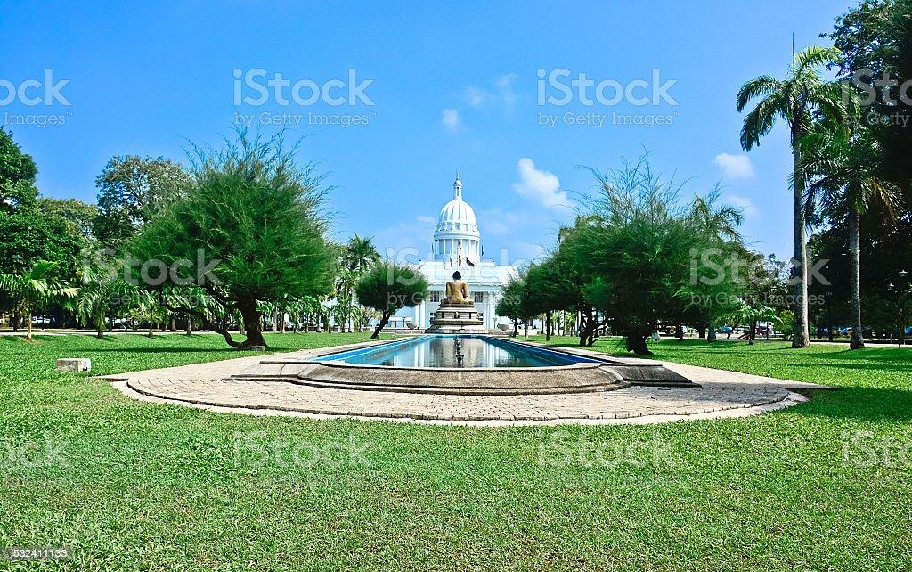 Viharamahadevi Park, Colombo Sri Lanka stock photo