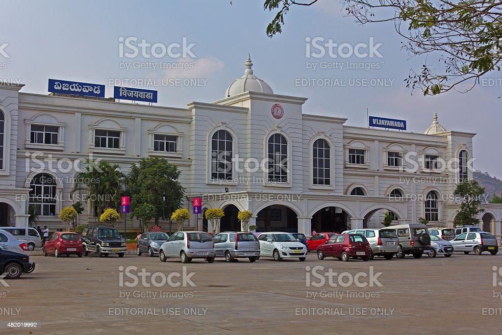 Vijayawada railway station stock photo