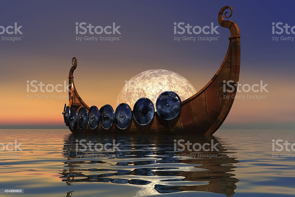 Viking Boat 2 stock photo