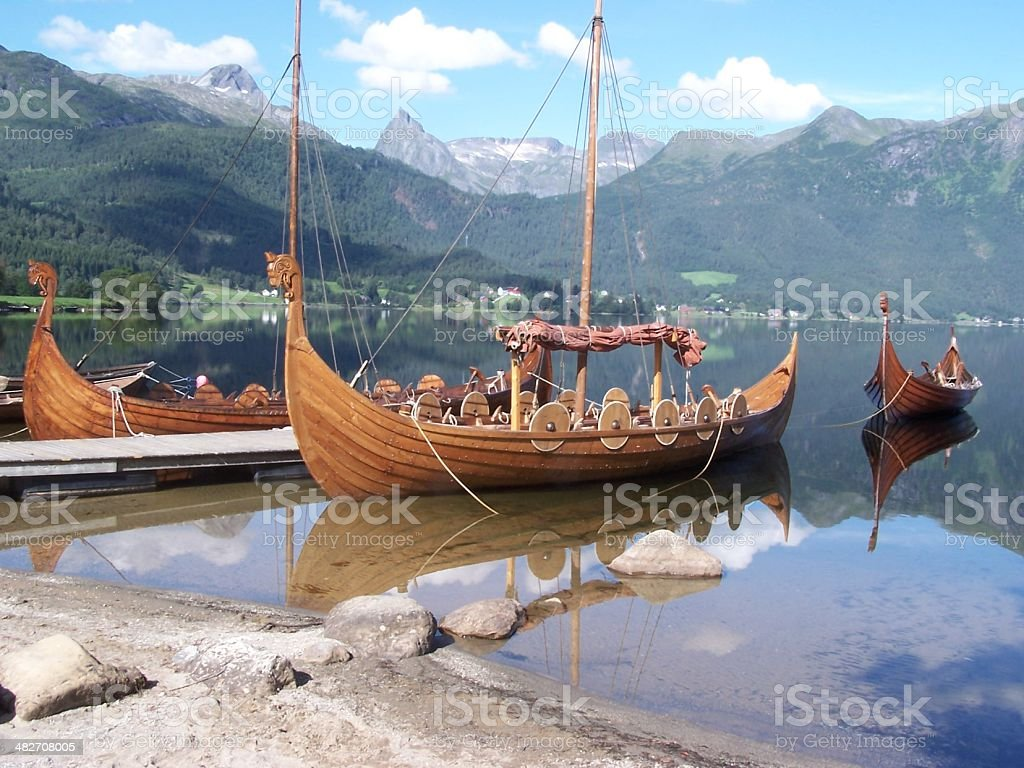 Viking Boat stock photo