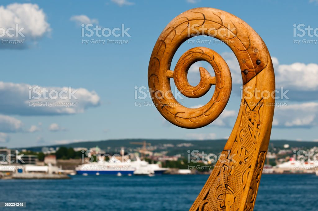 Viking boat - foto de stock