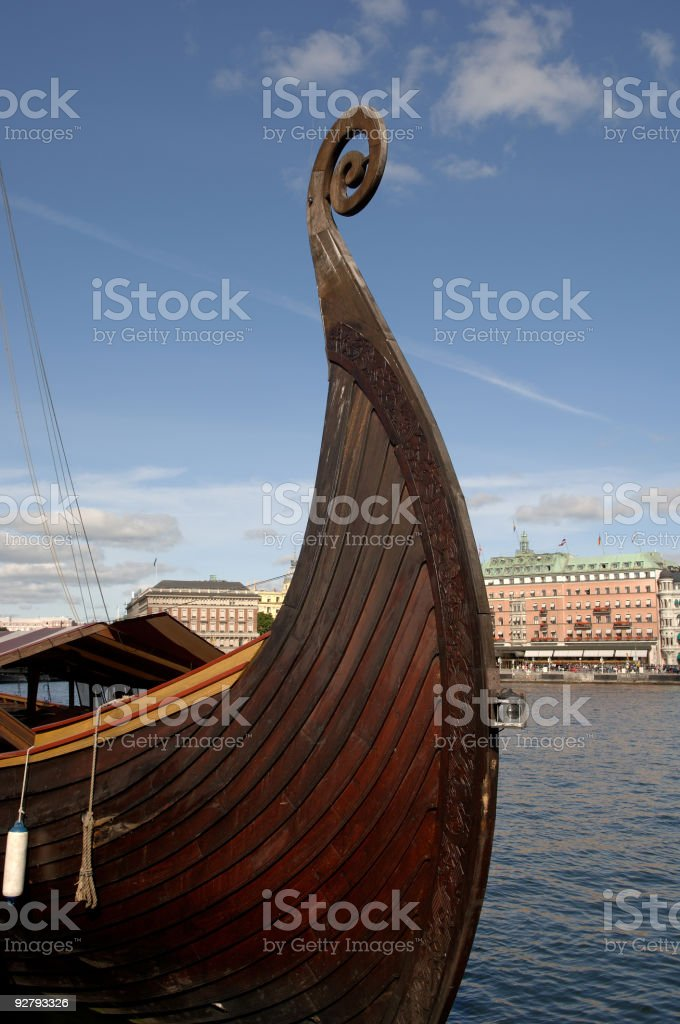 Viking Boat Stockholm Sweden royalty-free stock photo