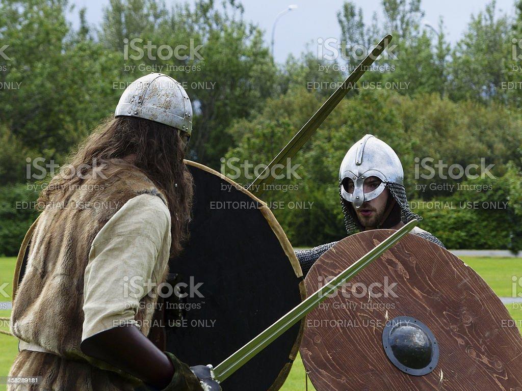 Viking duel royalty-free stock photo