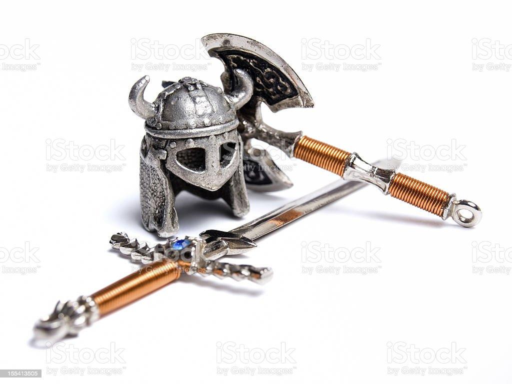 Viking equipment stock photo