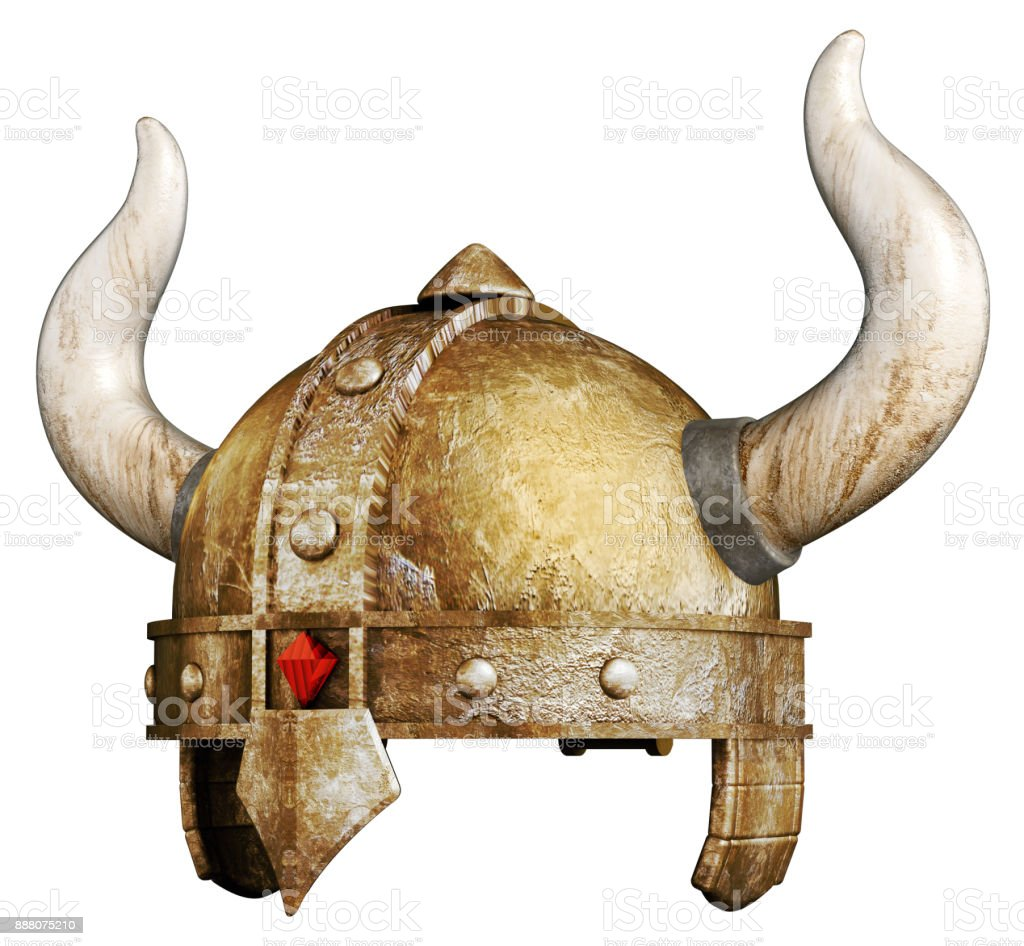 Wikinger-Helm isoliert auf weiss – Foto