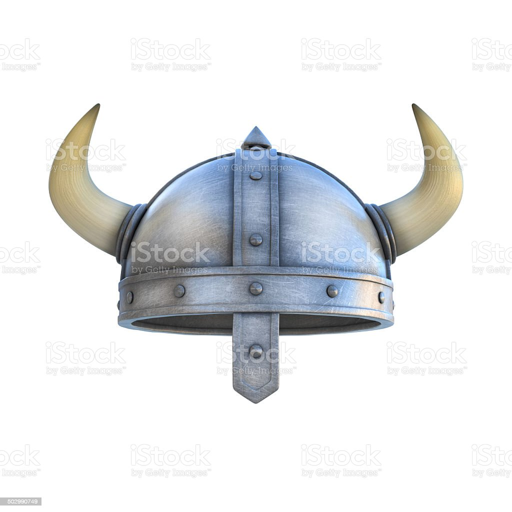 viking helmet isolated stock photo