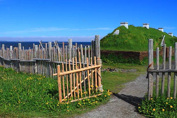 Viking settlement stock photo
