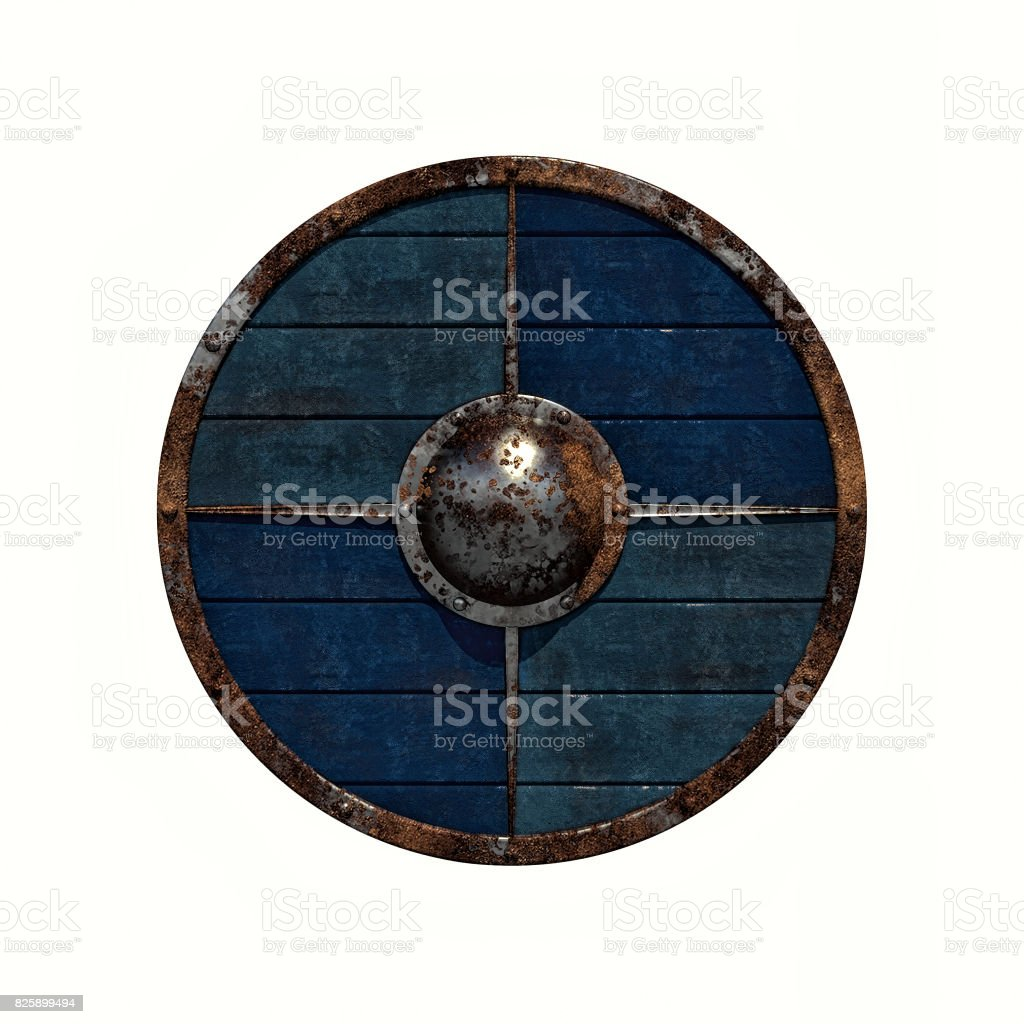 Viking shield stock photo