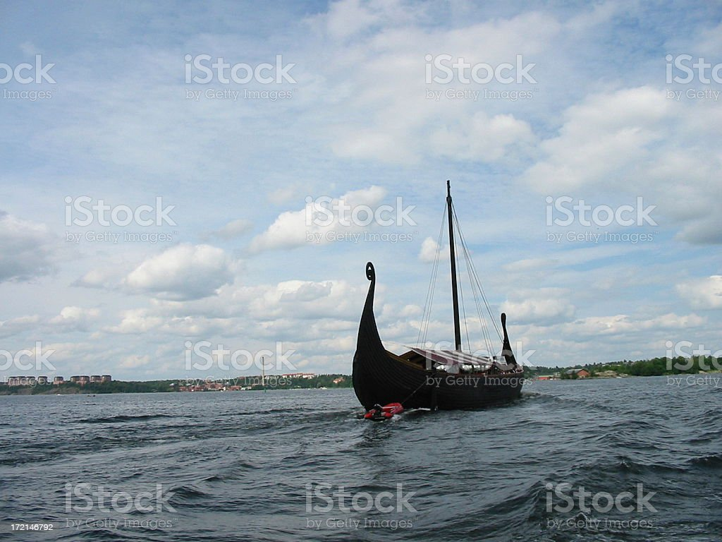 Viking ship royalty-free stock photo