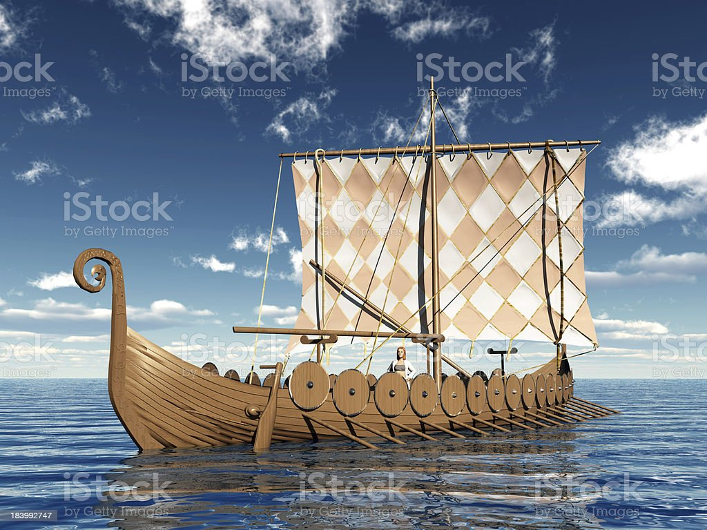 Barco de vikingos - foto de stock