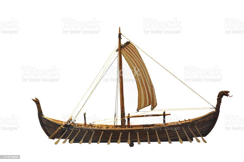 Viking ship con ruta - foto de stock