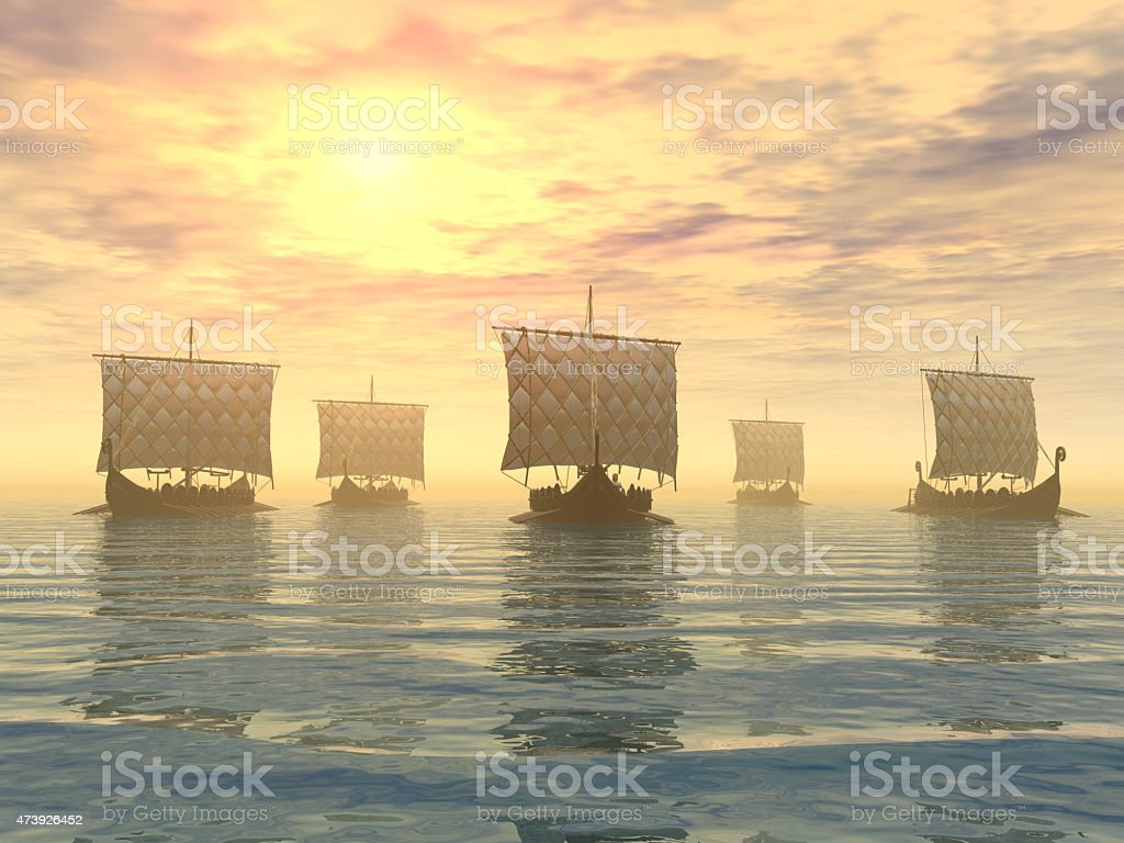 Viking Ships stock photo