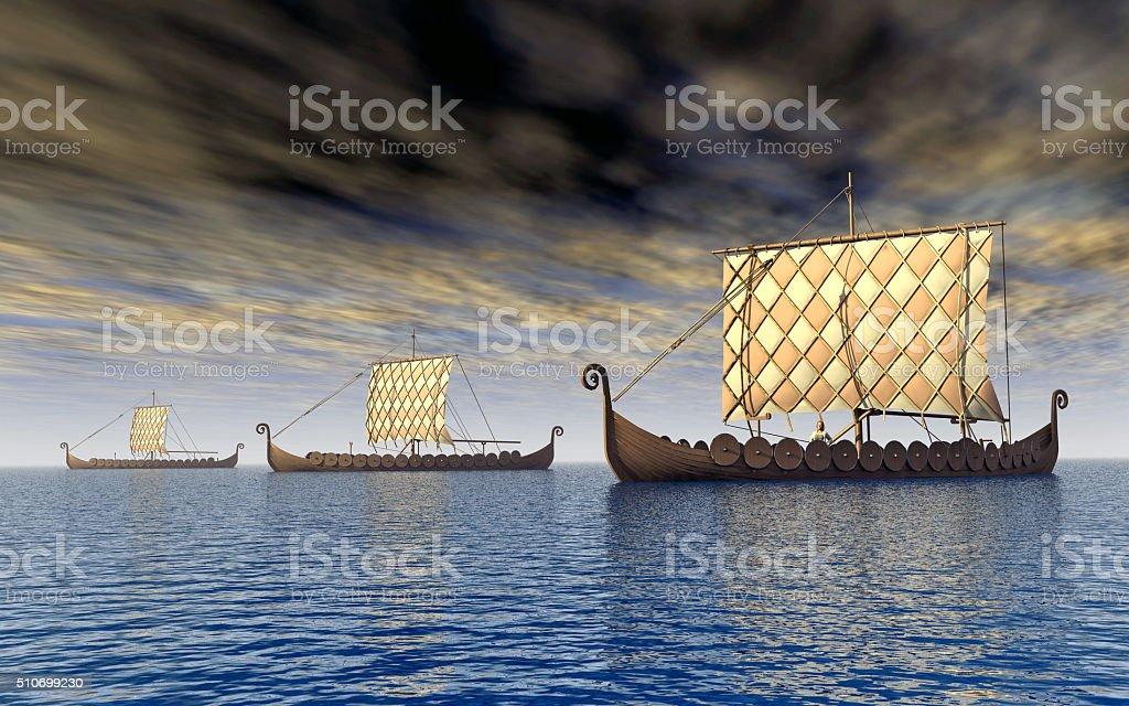 Viking los barcos - foto de stock
