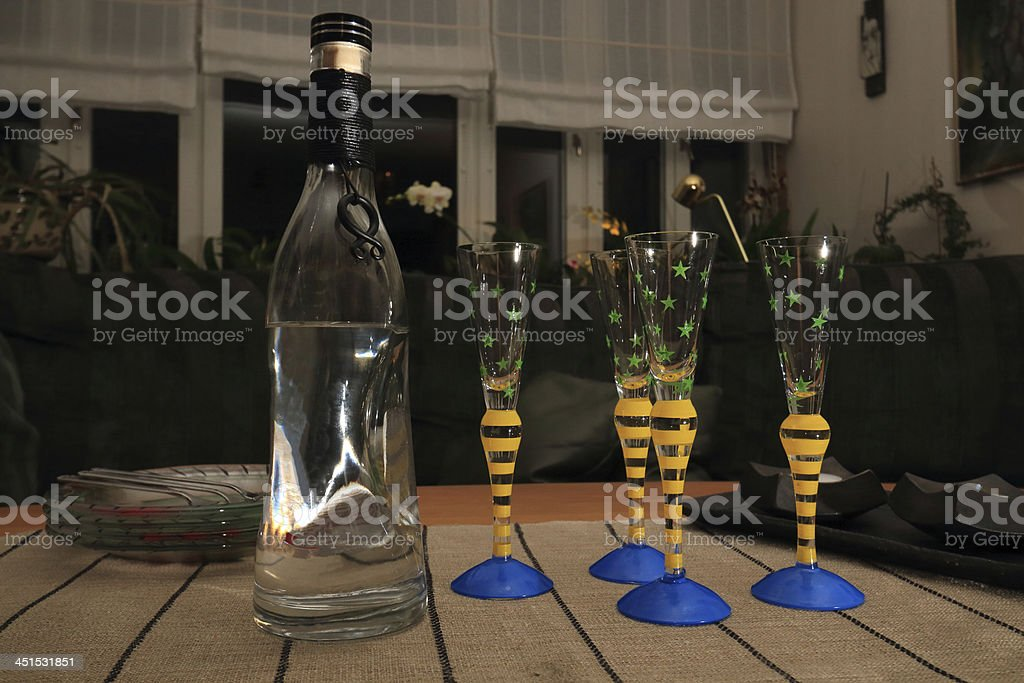 viking vodka ready to be served at fall stock photo
