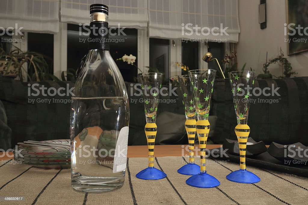 Viking vodka ready to be served stock photo
