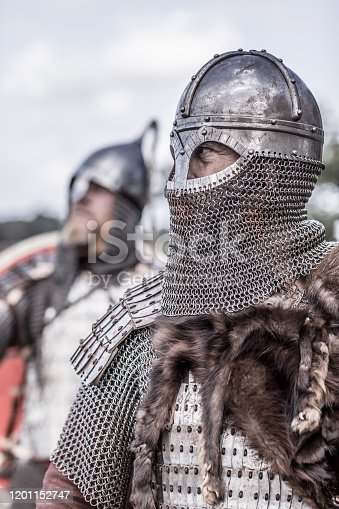 Viking warriors on highland moors leading a scouting mission during a battle
