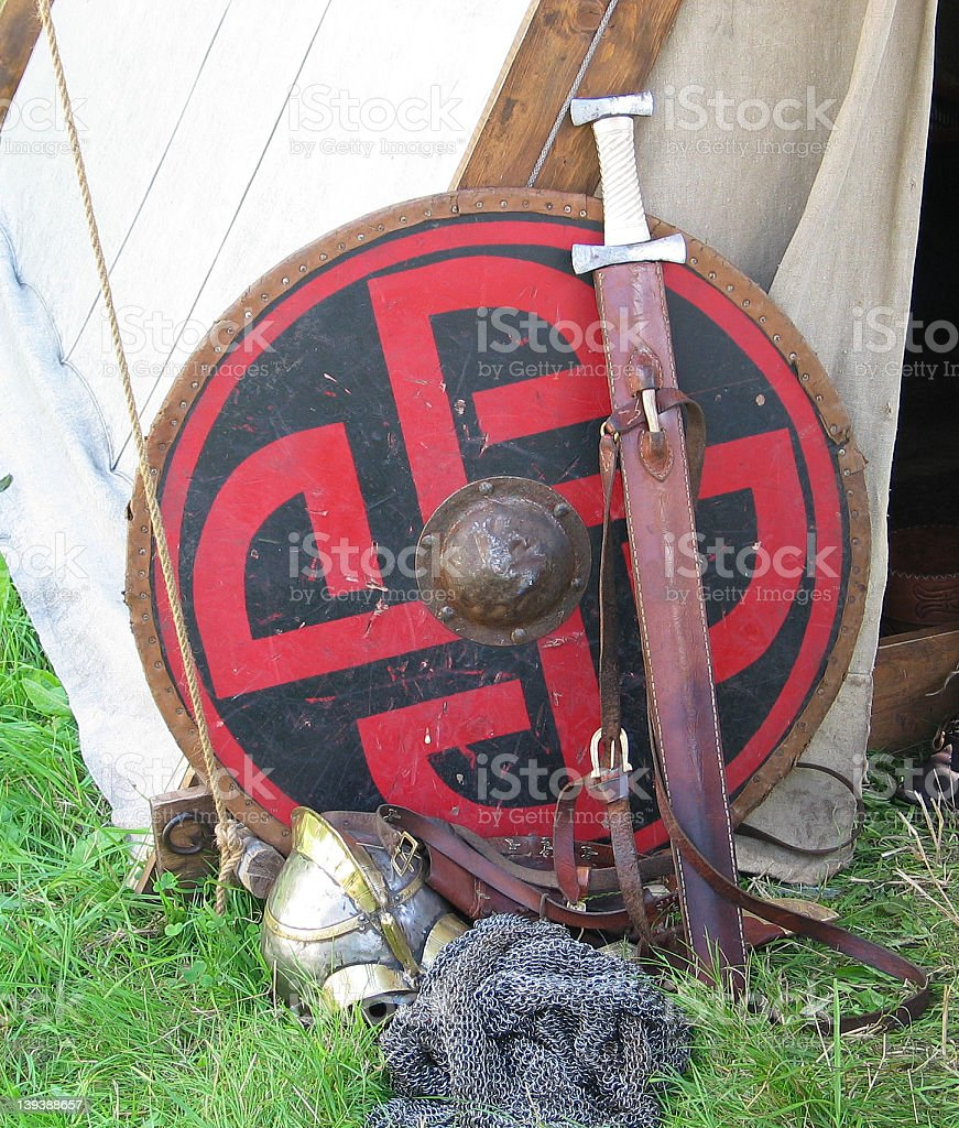 Viking weaponry royalty-free stock photo