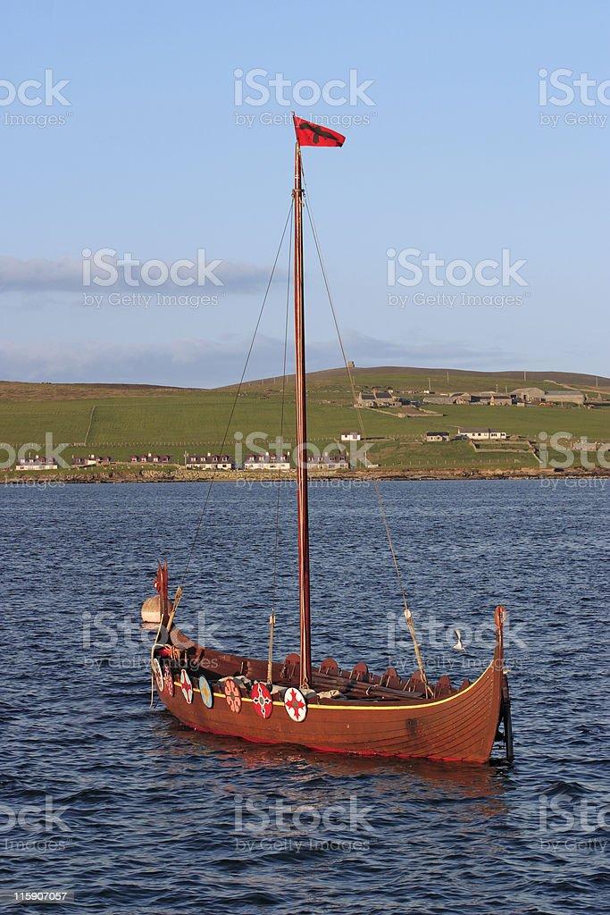 Vikingboat royalty-free stock photo