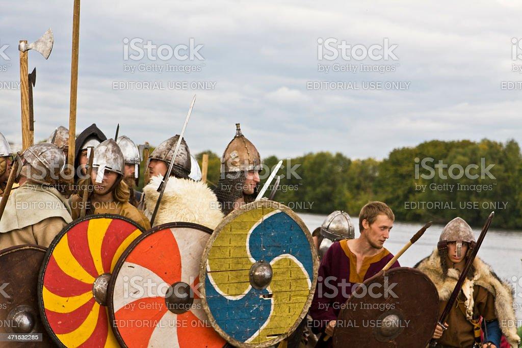 Vikings in battle royalty-free stock photo