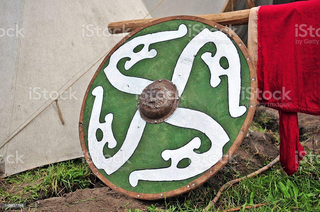 Vikings' shield royalty-free stock photo
