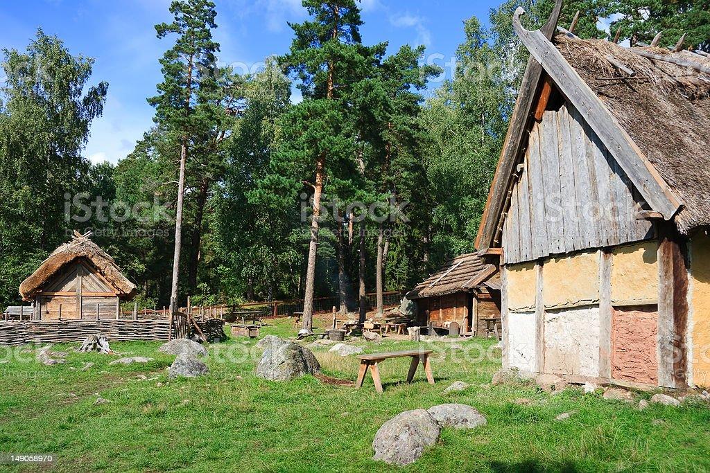 Vikings village royalty-free stock photo