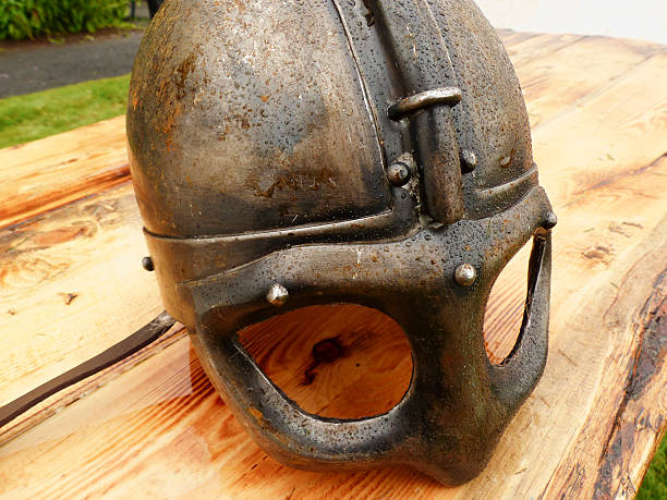 Viking/Saxon helmet stock photo