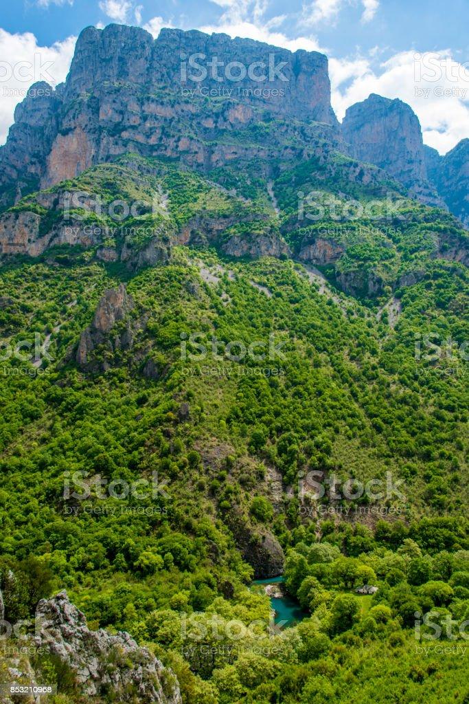 Vikos Gorge, Greece stock photo